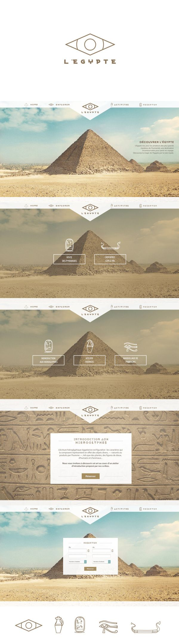 Egypt by Lawdi , via Behance Cool web design #web #WebDesign #design #creative #website #awesome #inspiration