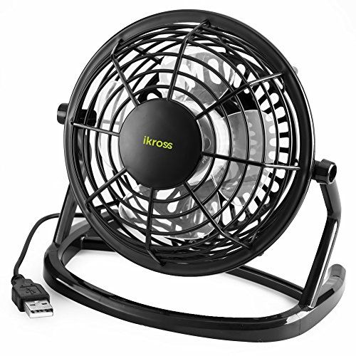 From 8.99 Usb Mini Desk Fan Ikross Personal Silent Fan For Laptop Pc Notebook Power Bank Office Home Bedroom With 360 Rotation / On And Off Switch - Black