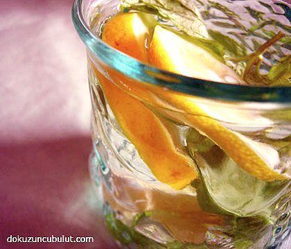 Ev yapımı zencefilli gazoz (limon ve portakallı)