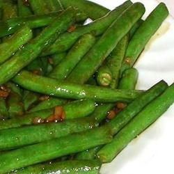 Chinese style green beans--I love love love these things. Definitely gonna have to try this recipe out and see if its legit!!