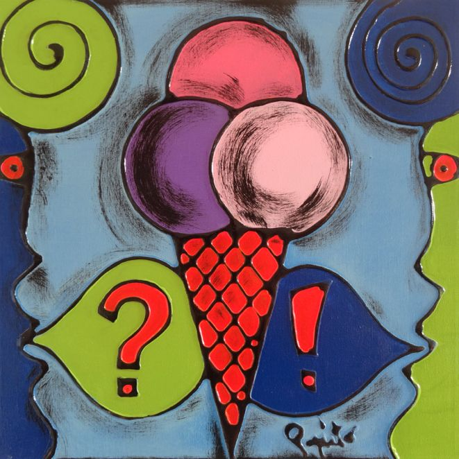 TENTAZIONI #04 - 40x40 cm. - Acrilic on canvas  #ICECREAM #TENTAZIONI #TEMPTATIONS