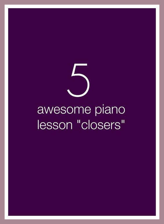 5 minutes left at the end of a piano lesson? Choose one of these 5 activities and send your piano kids out with a smile! | www.teachpianotoday.com #pianoteaching #pianolessonactivities #piano