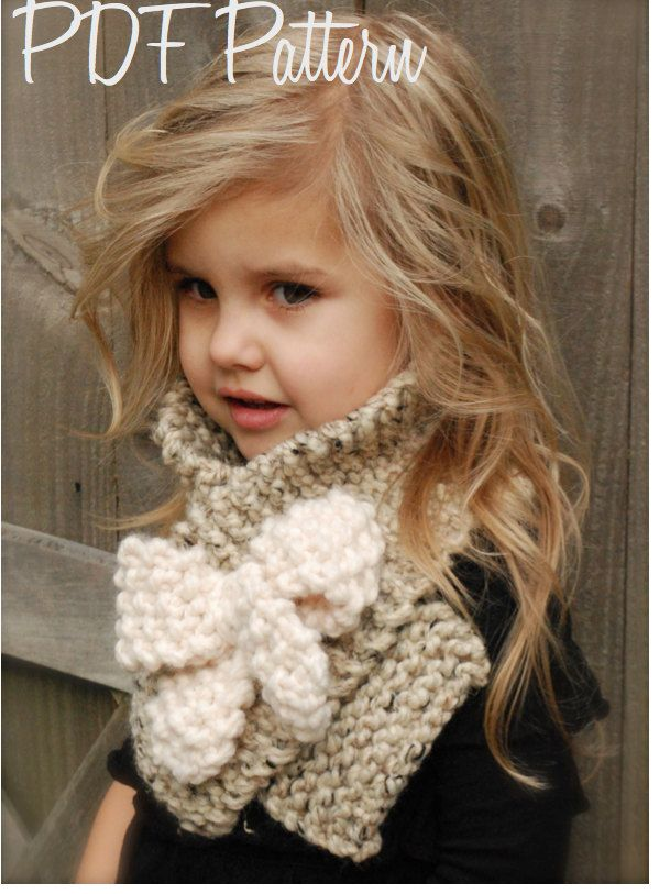 Knitting Pattern For Scarf For Toddler : Knitting PATTERN-The Bowlynn Scarf (Toddler, Child, Adult ...