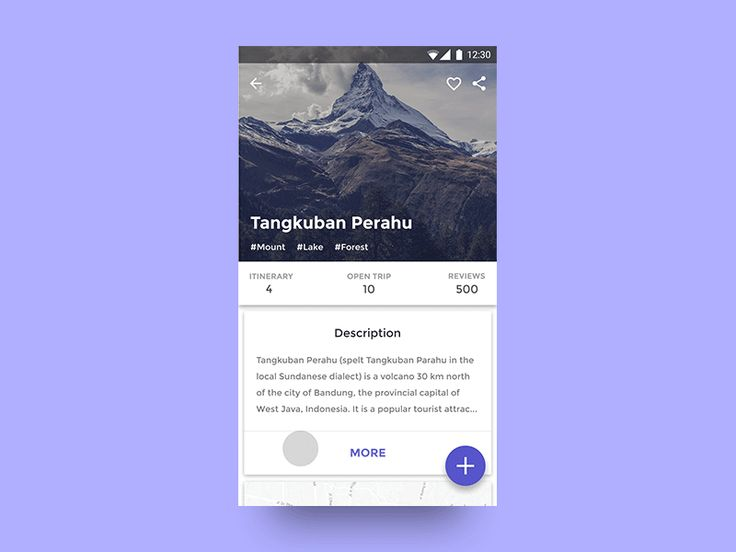 Scroll motion effect for Local Trip App I've been working on