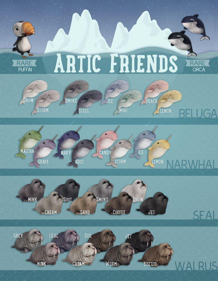 Artic Friends Gatcha (old work), Swasti DW on ArtStation at https://www.artstation.com/artwork/XDEGn