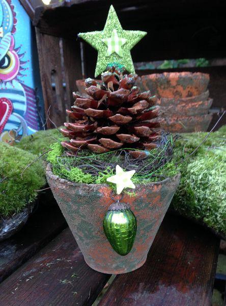 Weihnachtsdeko - Zapfen von kunstbedarf24 auf DaWanda.com