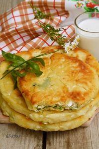 Сырные лепешки с разными начинками. рецепт с фотографиями