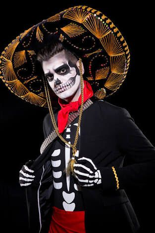 Male Day of the Dead Costume & Makeup