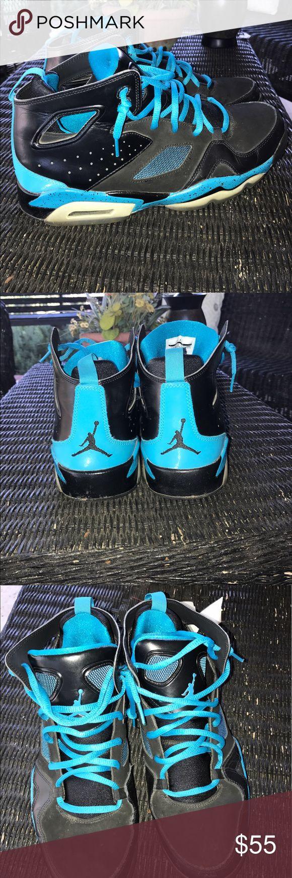 Jordan 5's blue and black size 11 Real Jordan's in pretty good shape. Slight wear but no major flaws. Size 11. Air Jordan Shoes Sneakers