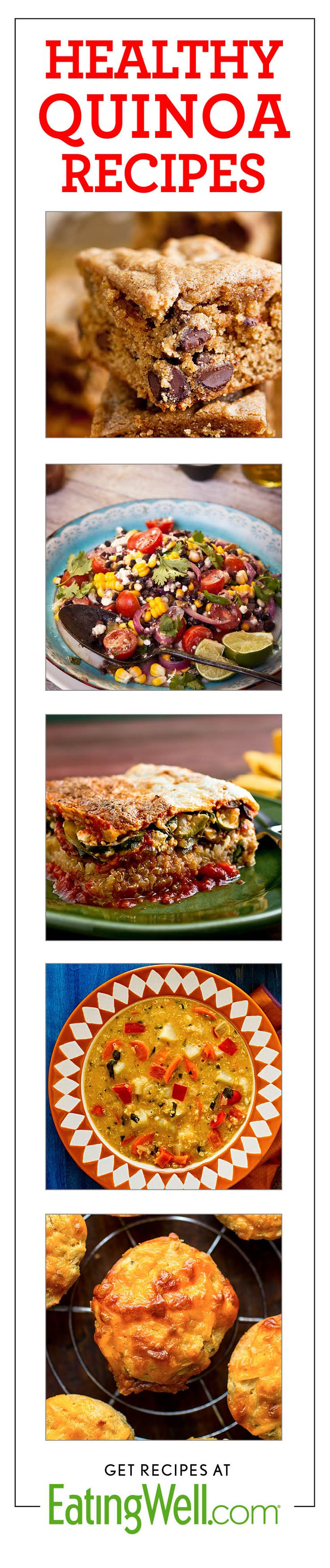 Almond Butter Quinoa Brownies, Quinoa Salads, Quinoa Lasagna, Quinoa Soup, Quinoa Muffins and more healthy quinoa recipes!