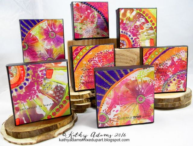 Mixed Up Art Mini Canvases by Kathy Adams