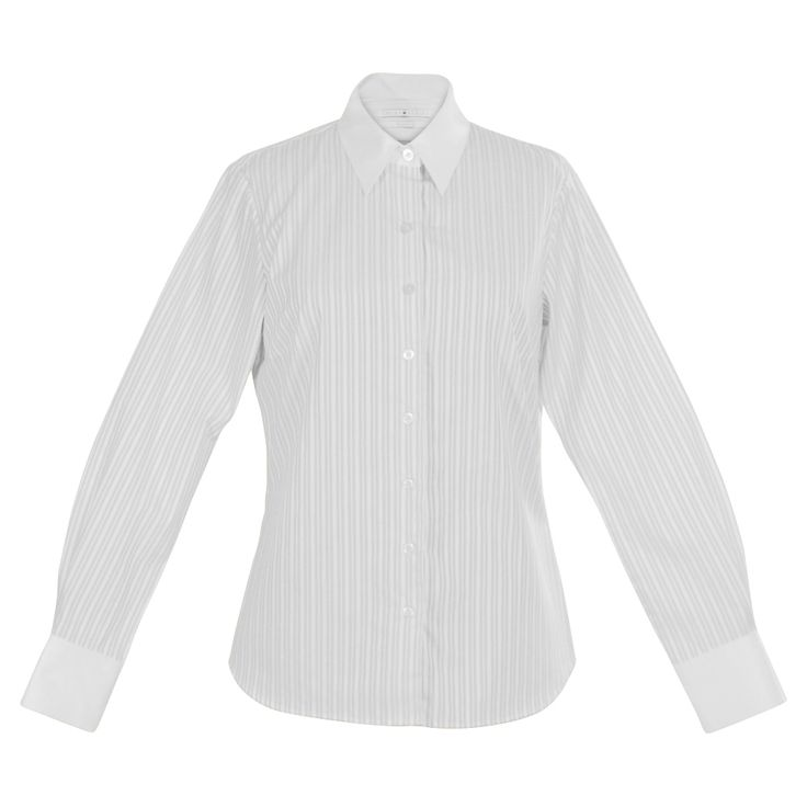 Smart, light brown-on-white pinstripes and French-look cuffs take this classic workshirt to the boardroom and beyond, with a subtly slimming pattern and a breathable fabric. 100% cotton. http://www.byariane.com.au/Louka-Pinstripe