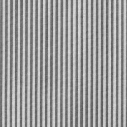 Tekstilvoksduk sort stripet garnfarget