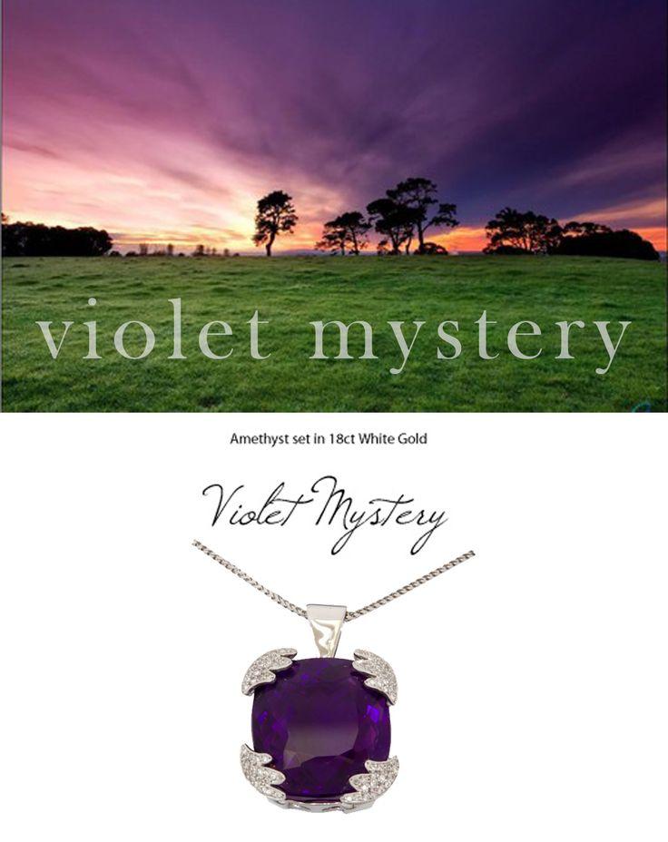 Violet Mystery - Amethyst set in 18K White Gold