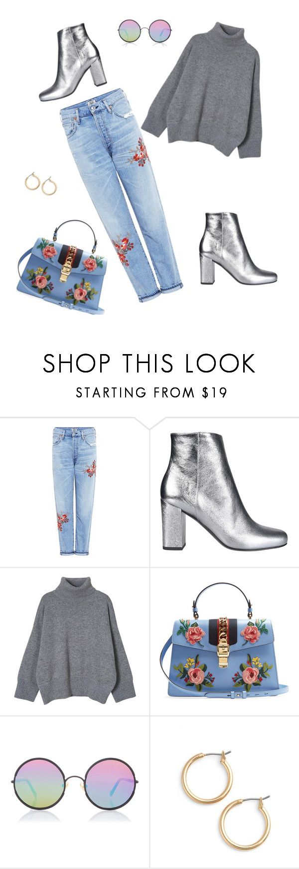 """""""2017.2.25"""" by joe-khulan on Polyvore featuring Citizens of Humanity, Yves Saint Laurent, Gucci, Sunday Somewhere and Nordstrom"""