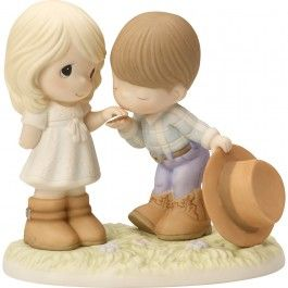 """Would You Be My Pardner"" Bisque Porcelain Figurine"