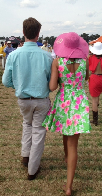Seen at the Carolina Cup: Lilly Pulitzer Spring '13- Freja Dress in New Green Everything Nice