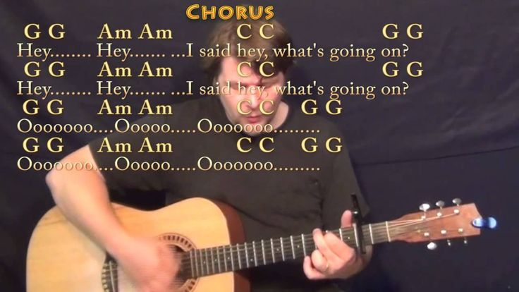 What's Up (4 NON BLONDES) Strum Guitar Cover Lesson with Chords/Lyrics -...