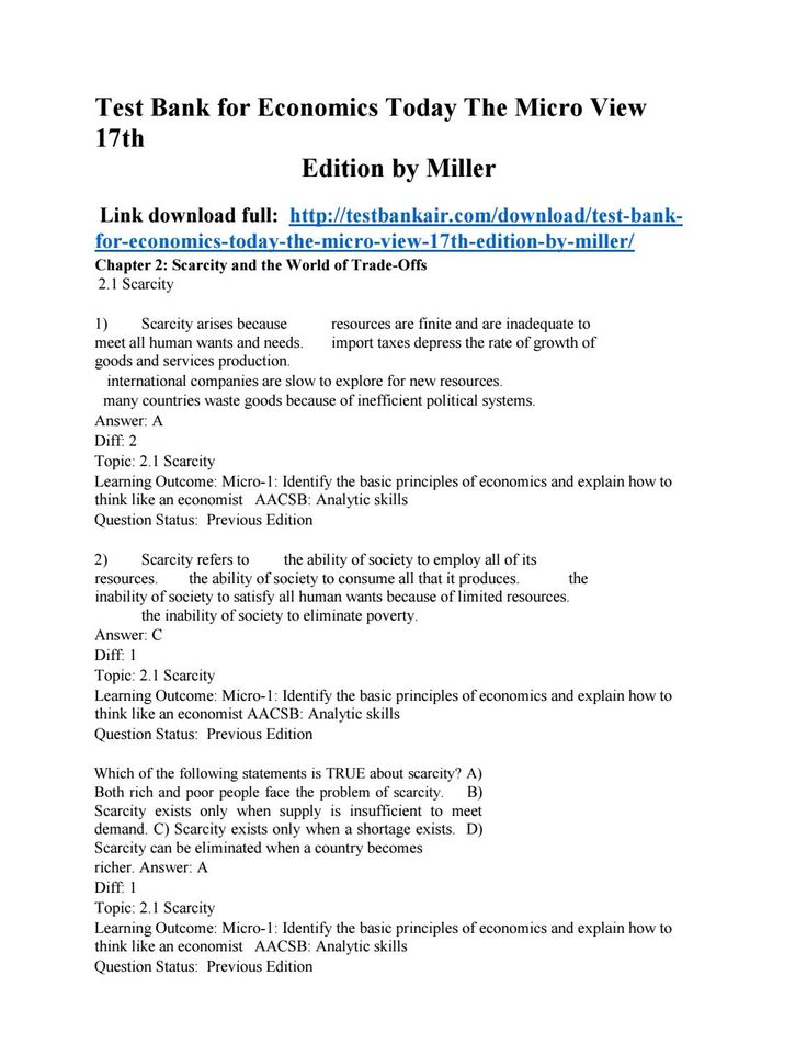 25 best test bank issuu images on pinterest download test bank for economics today the micro view 17th edition by miller fandeluxe Images