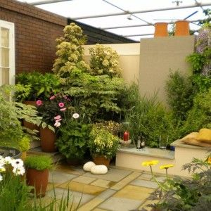 Modern Tiny Garden Ideas With Seating And Pots , Great Tiny Garden Ideas In Garden And Lawn Category