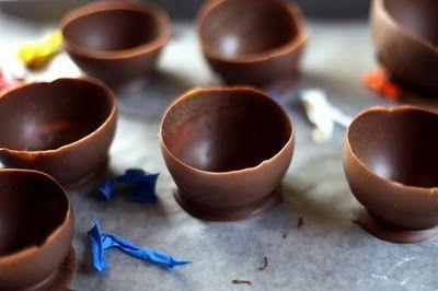 Cómo hacer vasos de chocolate