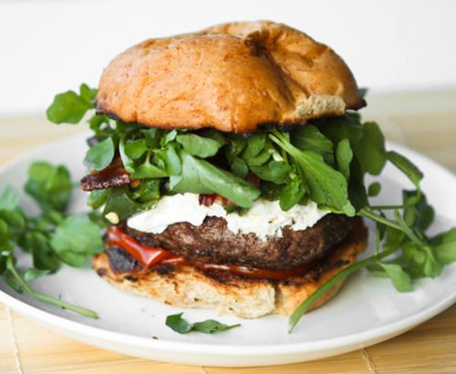 i could eat this everyday: Goats Chee Recipes, Turkey Burgers, Goats Cheese Recipes, Dinners Recipes, Green Chile, Burgers Recipes, Bacon Burgers, Grilled Recipes, Chile Bacon