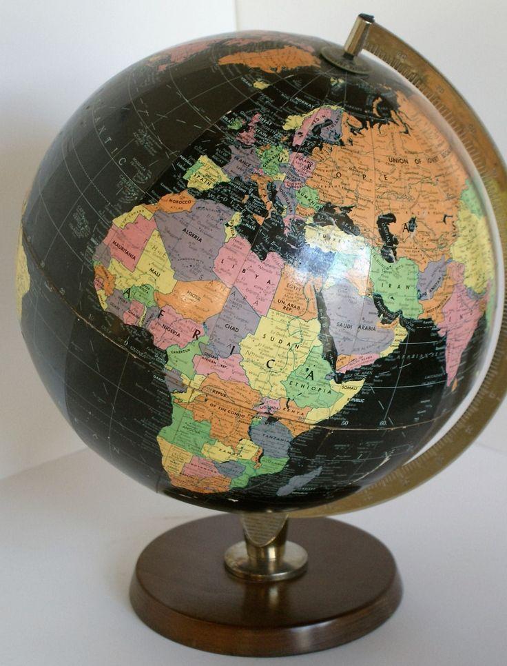 Beautiful Philipsu0027 retro rare Black Seau0027s Globe