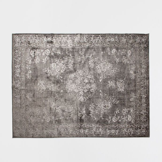 tapis motifs floraux tapis d coration zara home. Black Bedroom Furniture Sets. Home Design Ideas
