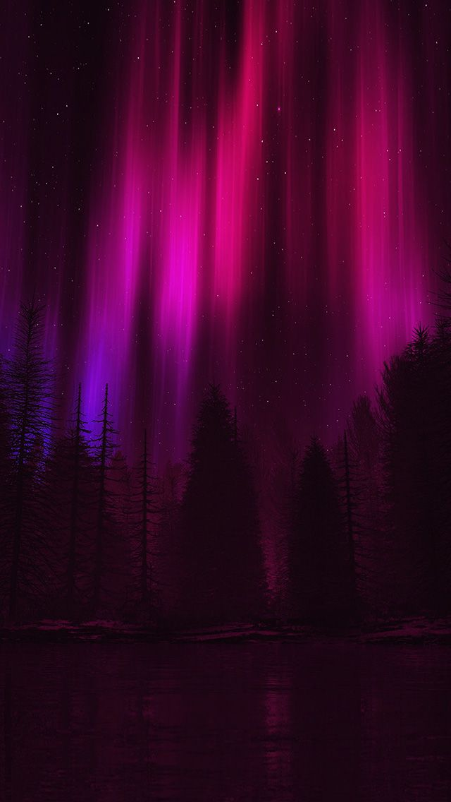 freeios8.com - ao05-aurora-night-sky-dark-red-nature-art - http://bit.ly/2bZRyNn - iPhone, iPad, iOS8, Parallax wallpapers