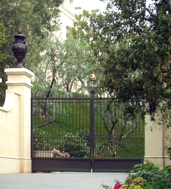 Security Gate 99 best 166 Exterior   Gates  Fences and Driveways images on  . Exterior Gates Fences. Home Design Ideas