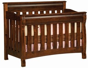 33% OFF Amish Furniture U0026 Handcrafted Amish Baby Furniture | Castlebury  Conversion Crib In Oak