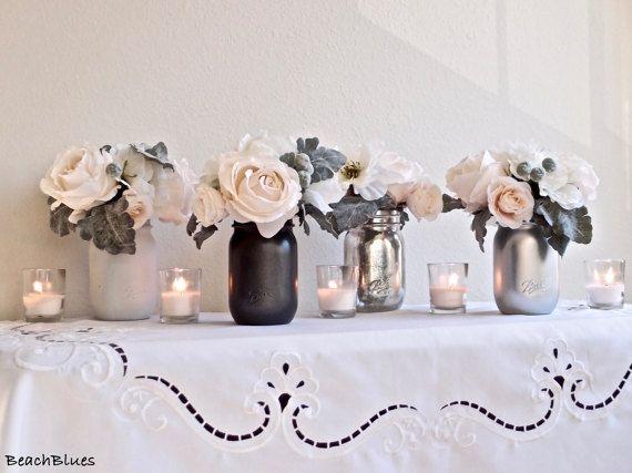 Wedding Decor / Wedding Centerpiece / Romantic by BeachBlues