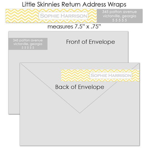 Chevron Little Skinnies Custom Wrap Around Envelope Labels