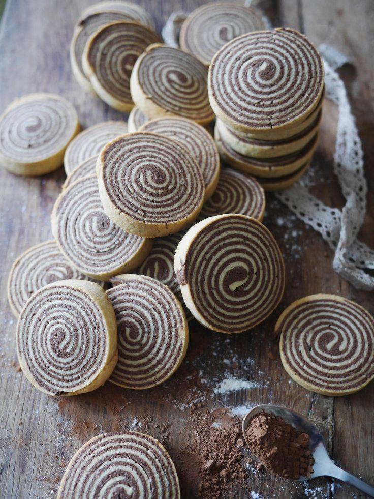 Les sablés en spirale chocolat et vanille
