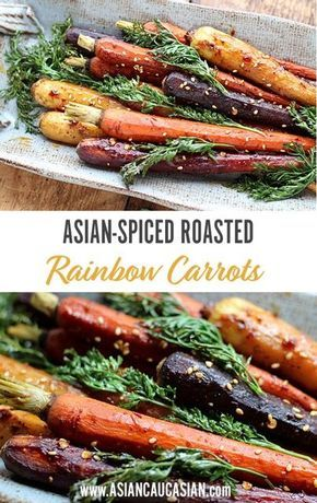 Asian-Spiced Roasted Rainbow Carrots