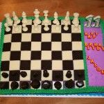 Edible Chess Set Cake