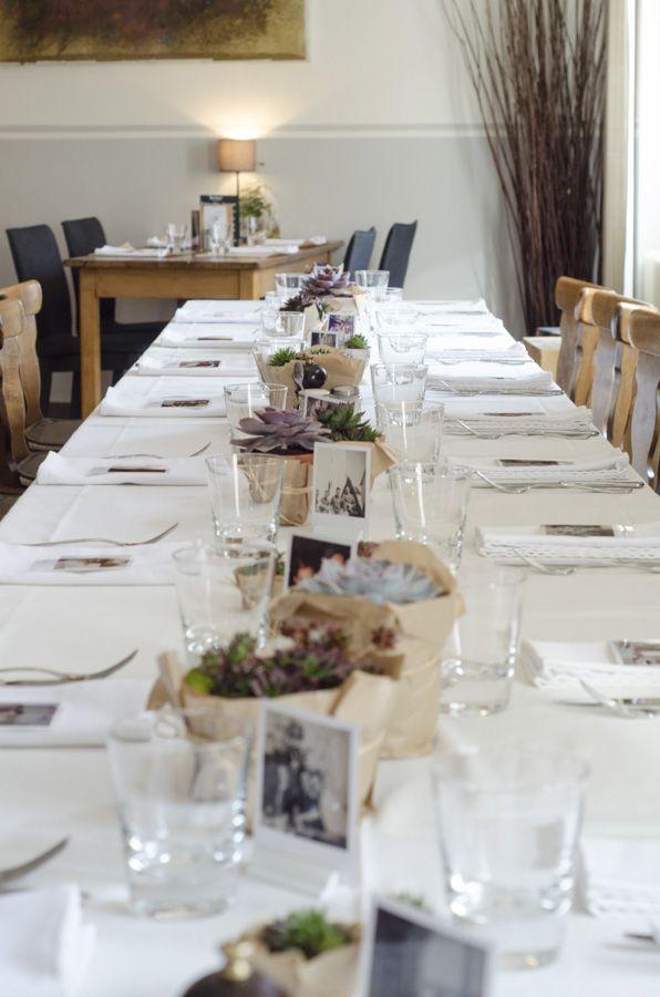 Déco de table super facile: plantes grasses et polaroïd