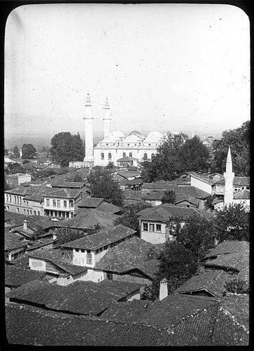 Bursa ; Brousse; Toits de la ville, mosquée à l'arrière-plan PhotographeRoy, Lucien (architecte) Date prise vue 1908