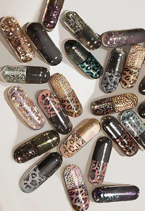 I would just keep a pill bottle of these to make people think there's glitter in my veins :)