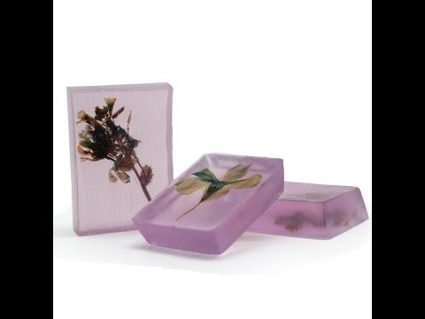 Hacer Jabón de Flores Prensadas - YouTube