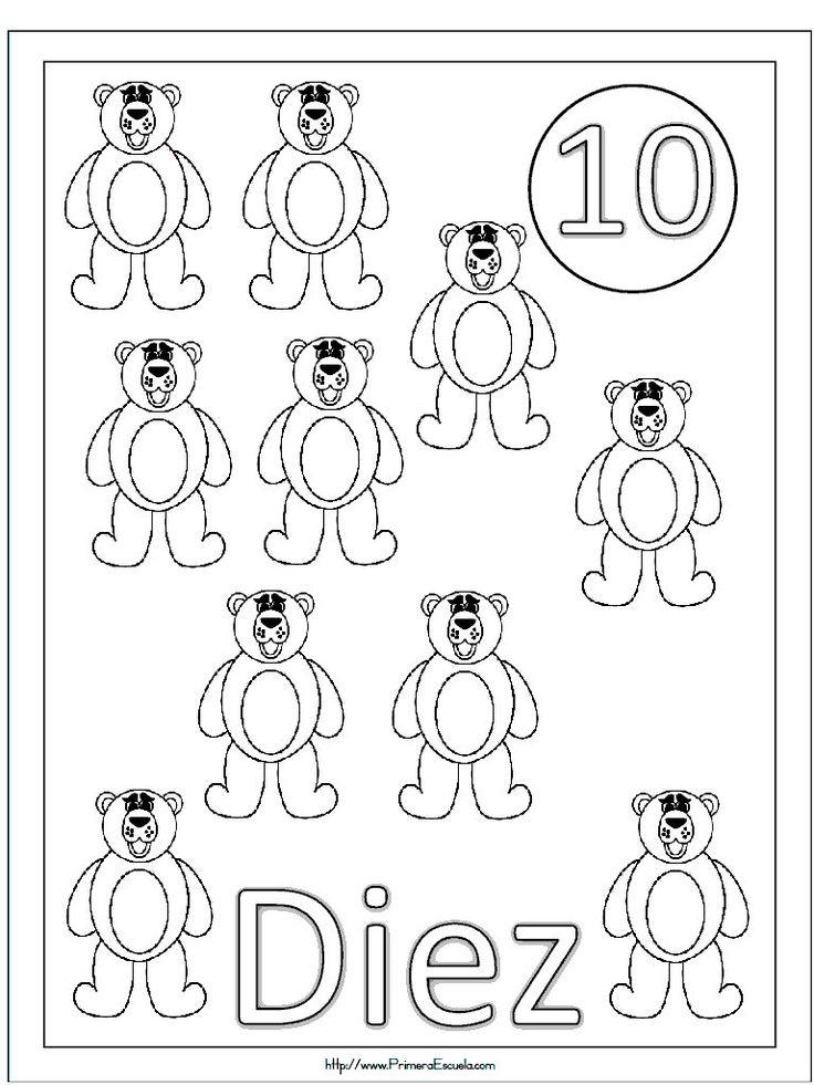 numeros del 11 al 20 para colorear ALOjamiento de IMágenes dibujos blanco y negro Pinterest