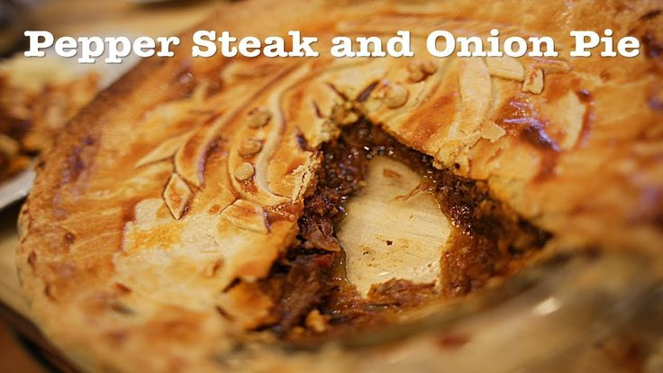Pepper Steak and onion pie recipe | Pepper steak, Onion ...