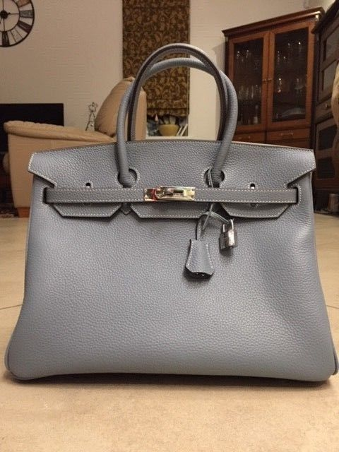 43f5a57f5a Details about Genuine Togo Calfskin Leather Inspired Birkin Bag with ...