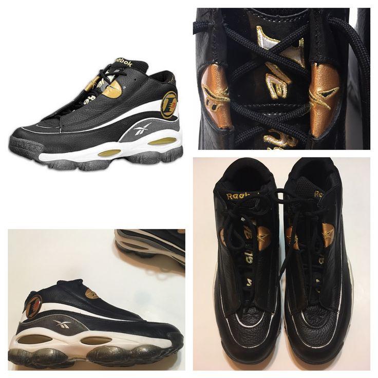 EUC Authentic Reebok Black/Gold The Answer 1 DMX Allen Iverson Sneaker Size 12