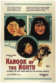 The film is considered the first feature-length documentary. Nanook of the North (also known as Nanook of the North: A Story Of Life and Love In the Actual Arctic) is a 1922 silent documentary film by Robert J. Flaherty.