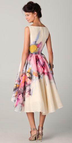 This Lela Rose dress is stunning!