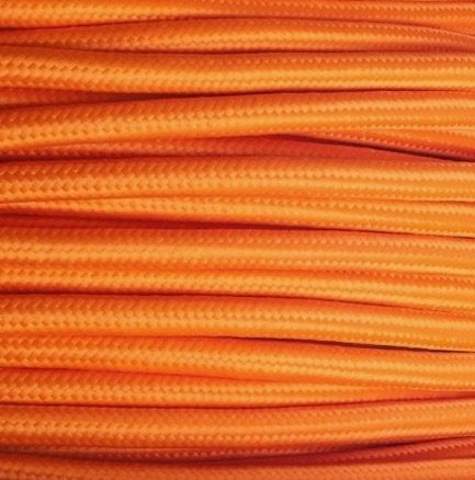 Cable textil decorativo color naranja #cablesdecorativos #decoracion #lamparas #iluminacion #interiorismo