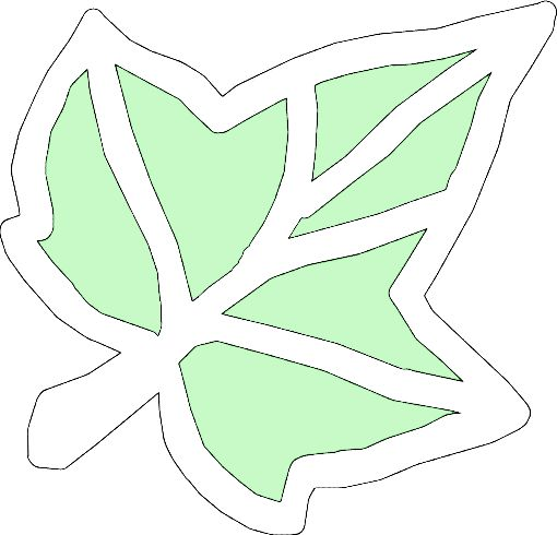 * Herfstblad! 2 x laten maken. Groene gedeelte uit prikken/knippen zijdevloei ertussen, klaar!