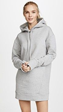 TWENTY MONTREAL Hooded Sweatshirt Dress  bb8dea6abb