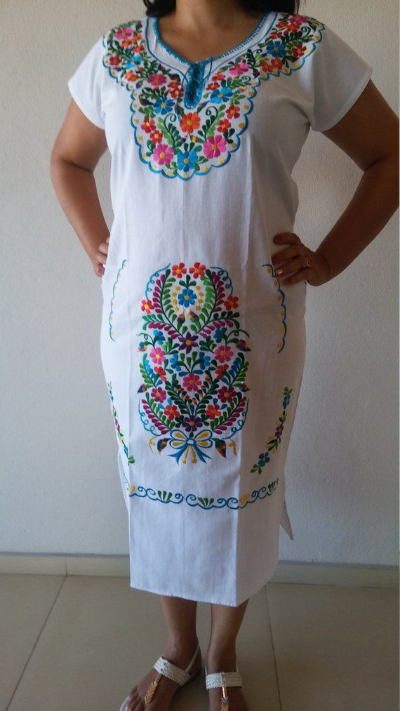 3f02043de37 Embroidery Mexican Dress